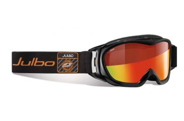 Julbo Revolution Goggles, Black/Orange w/Snow Tiger Double Cylindrical Lenses And A Multilayer Fire Flash Treatment 71873144