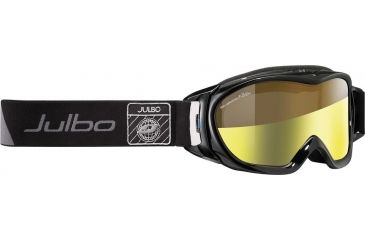 Julbo Revolution Goggles, Black w/Zebra Light Double Cylindrical Lenses And A Light Gold Flash Treatment 71831143