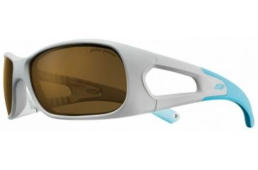 Julbo Trainer Kids Sunglasses, Grey/Blue w/ Kids Polarized Lenses 4549221