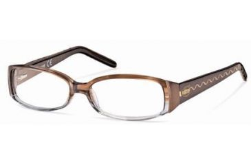 Just Cavalli JC0297 Eyeglass Frames - Shiny Light Brown Frame Color