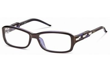Just Cavalli JC0383 Eyeglass Frames - Shiny Dark Brown Frame Color