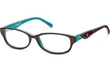 Just Cavalli JC0452 Eyeglass Frames - Dark Brown Frame Color