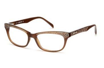 Just Cavalli JC0467 Eyeglass Frames - Shiny Dark Brown Frame Color