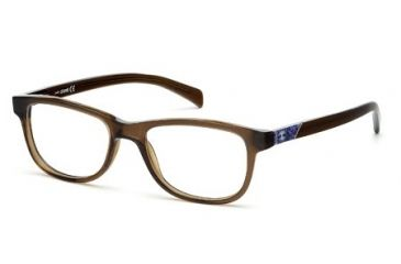 Just Cavalli JC0471 Eyeglass Frames - Shiny Dark Brown Frame Color