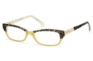 Just Cavalli JC0473 Eyeglass Frames - Yellow Frame Color