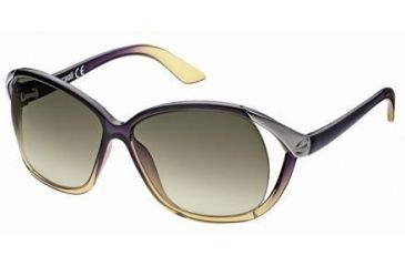 Just Cavalli JC398S Sunglasses - Bordeaux Frame Color, Gradient Green Lens Color