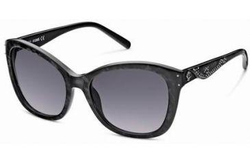 Just Cavalli JC408S Sunglasses - Black Frame Color, Gradient Smoke Lens Color