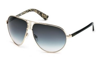Just Cavalli JC508S Sunglasses - Shiny Rose Gold Frame Color, Gradient Green Lens Color