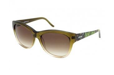 Just Cavalli JC634S Sunglasses - Dark Green Frame Color, Gradient Brown Lens Color