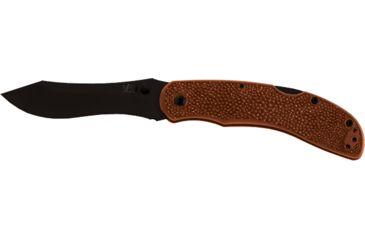 Ka-Bar Knives Adventure Piggyback Folding Straight Edge Knife w/ Pocket Clip, Clampack, BROWN 4-5597CP-1