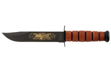 Ka Bar Knives Kb9110 Plain Us Navy Iwo Jima Commerative Knife Leather Handle