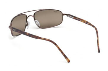 Maui Jim Kahuna Sunglasses w/ Metallic Gloss Copper Frame and HCL Bronze Lenses - H162-23, Back View