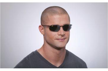 Maui Jim Kanaha Sunglasses w/ Gloss Black Frame and Neutral Grey Lenses - 409-02, On Model