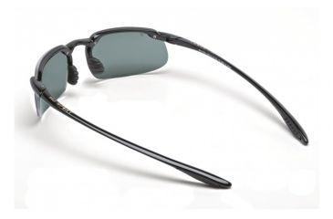 Maui Jim Kanaha Sunglasses w/ Gloss Black Frame and Neutral Grey Lenses - 409-02, Back View