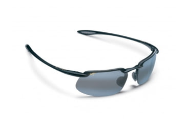 Maui Jim Kanaha Sunglasses w/ Gloss Black Frame and Neutral Grey Lenses - 409-02, Quarter View