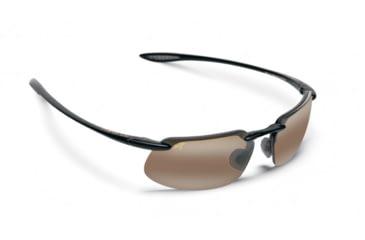 Maui Jim Kanaha Sunglasses w/ Gloss Black Frame and HCL Bronze Lenses - H409-02, Quarter View