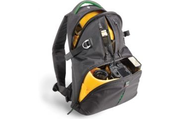 Kata Bags DR-465; Digital Rucksack - Black with Green Accents KT-DR-465-BG