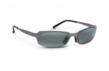 Maui Jim Keiki Sunglasses w/ Gunmetal Frame and Neutral Grey Lenses - 213-02, Quarter View