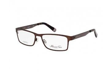 Kenneth Cole KC0204 Eyeglass Frames - Matte Dark Brown Frame Color