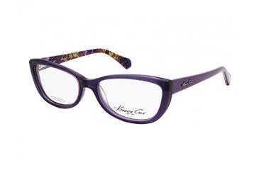 Kenneth Cole KC0211 Eyeglass Frames - Shiny Violet Frame Color