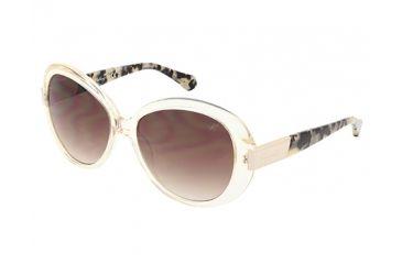 Kenneth Cole KC7138 Sunglasses - Crystal Frame Color, Gradient Brown Lens Color