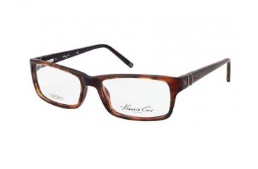 Kenneth Cole New York KC0181 Eyeglass Frames - Shiny Dark Brown Frame Color