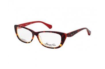 Kenneth Cole New York KC0202 Eyeglass Frames - Red Havana Frame Color