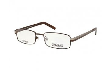 Kenneth Cole Reaction KC0710 Eyeglass Frames - Matte Dark Brown Frame Color