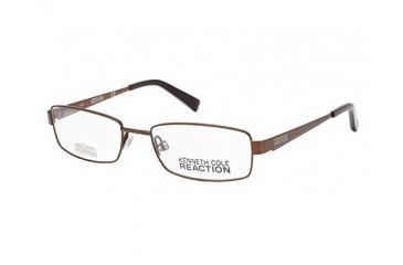 Kenneth Cole Reaction KC0737 Eyeglass Frames - Shiny Dark Brown Frame Color