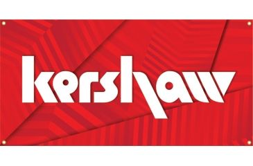 Kershaw Knives Advertising Banner, White-Red, 48in. x 18in. KSB
