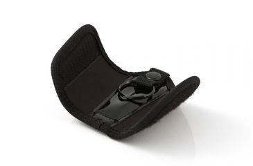 Key-Bak 8711 Key Silencer, Snap and Split Ring, 2.25in Belt Loop, Black Ballistic Nylon 0308-711