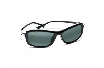 Maui Jim Kihei Sunglasses w/ Gloss Black Frame and Neutral Grey Lenses - 211-02, Quarter View