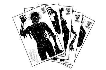 Killer Targets Zombie Shooting Targets - 2 of Each, 12 Pack