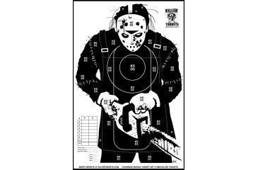 Killer Targets Homicidal Killer in Hockey Mask with Chainsaw Target - Pack of 10