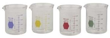 Kimble/Kontes KIMAX Color-Coded Griffin Beakers, Double Scale, Borosilicate Glass, Kimble Chase 14000Y 600 Sunny Yellow Graduations