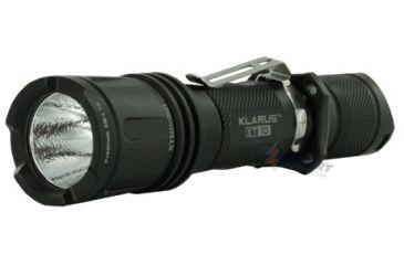 Klarus XT10 LED Flashlight with CREE XM-L T6 LED 470 Lumens - Military Grey and Black Finish - Uses 2 x CR123A Batteries or 1 x 18650 or 2 x 16340 KLARUS-XT10
