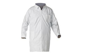 Kleenguard A40 Liquid & Particle Protection Lab Coats, White, Medium 44452