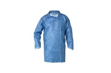 Kleenguard A60 Bloodborne Pathogen & Chemical Splash Protection Lab Coats, Blue, Large 45513