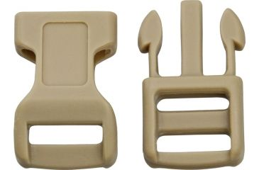 Knotty Boys Hard Plastic Buckle- 100-Piece, Coyote, 1 1/2in. x 3/4in. KYCPC