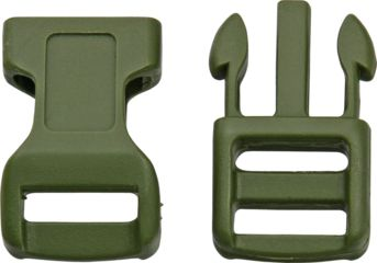 Knotty Boys Hard Plastic Buckle- 100-Piece, OD Green, 1 1/2in. x 3/4in. KYCPOD