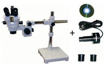 Konus Crystal-Pro 7x-45x Stereoscopical Trinocular Microscope 5424 w/ Konus Digital Microscope Camera with USB 5829