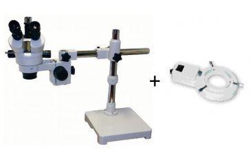 Konus Crystal-Pro 7x-45x Stereoscopical Trinocular Microscope 5424 w/ Konus Microscope Direct Light Illuminator 120V 5483