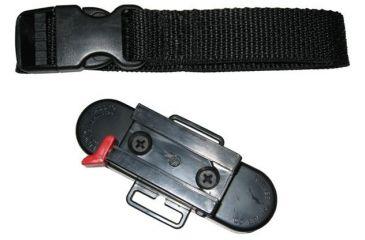 Kwikee Kwiver Bracket Kaddy Strap 360, BLACK KBKS360
