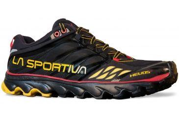 1714daebcc24 La Sportiva Helios SR Trail Running Shoe - Mens-Black Yellow-Medium-