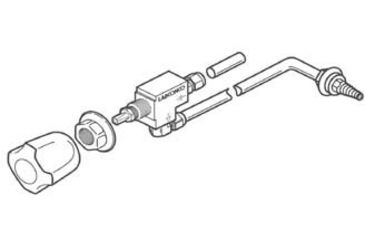 Labconco Fixture and Faucet Kits for Protector Laboratory Hoods, Labconco 9808900 Service Fixture Kits Hot Water