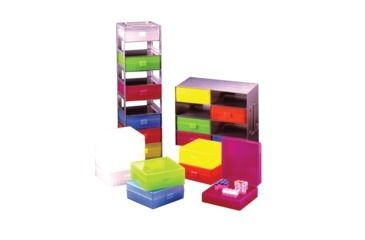 Labnet Storage Box, Hinged Lid, Green, Blue, Pink, Orange, or Yellow, 100x1.5/2.0 R8300-X