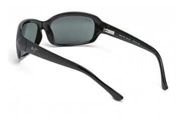 Maui Jim Lagoon Sunglasses w/ Gloss Black Frame and Neutral Grey Lenses - 189-02, Back View