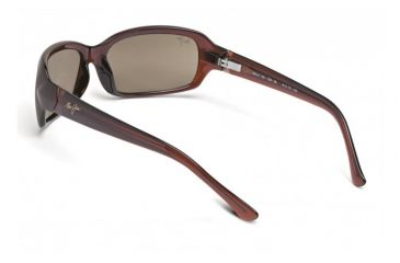 Maui Jim Lagoon Sunglasses w/ Dark Brown Frame and HCL Bronze Lenses - H189-26, Back View