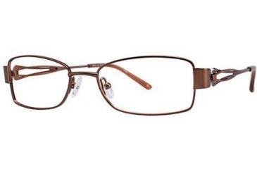 LAmy Adrienne Bifocal Prescription Eyeglasses - Frame Brown/Orange, Size 52/17mm LYADRIENNE01