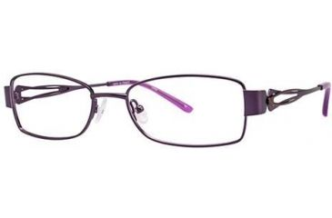 LAmy Adrienne Single Vision Prescription Eyeglasses - Frame Purple Brown, Size 52/17mm LYADRIENNE03